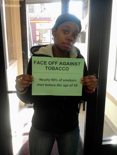 "Face Off Against Tobacco on Flickr. ""Believe young smokers are messing up their life before the even get started."""