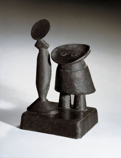 i12bent:  Max Ernst: Daughter and Mother, 1959 - bronze