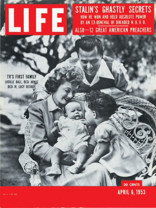 life:  On this day in LIFE Magazine… TV's First Family: Lucille Ball, Desi Arnaz, Desi IV, Lucy Desiree