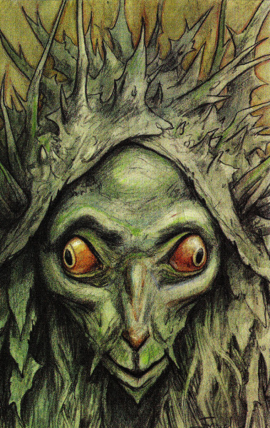 siryl:  Illustration by Brian Froud for The Wild Wood by Charles de Lint.
