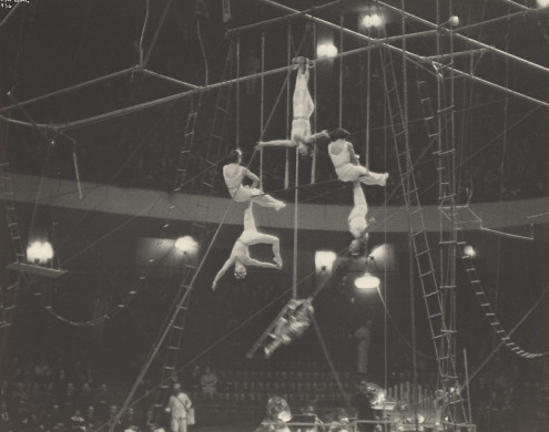(Circus Acrobats, New York, 1936) …Reminds me of Wings of Desire