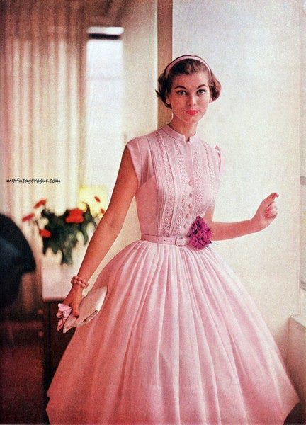 theniftyfifties:  1950s dress fashion