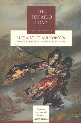 The Tokaido Road  Lucia St. Clair Robson  Guest reviewed by RedHeadedGirl          After the execution of her father, the young and beautiful Lady Asano is in grave danger from the powerful Lord Kira. In order to save herself Asano must find Oishi, the leader of the fighting men of her clan. She believes he is three hundred miles to the southwest in the imperial city of Kyoto.Disguising her loveliness in the humble garments of a traveling priest, and calling herself Cat, Lady Asano travels the fabled Tokaido Road. Her only tools are her quick wits, her samurai training, and her deadly, six foot-long naginata. And she will need them all, for a ronin has been hired to pursue her, a mysterious man who will play a role in Cat's drama that neither could have ever imagined… .