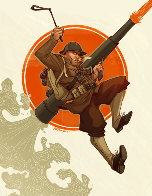 otlgaming:  TEAM FORTRESS 2 SOLDIER: 1920s EDITION by RAMIDA-R Be sure to check out her Scout as well.