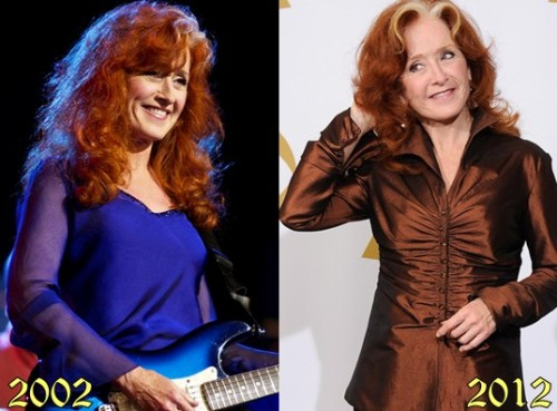 Bonnie's aging Raitt-ing? 10/10. I credit the age-defying skunk tail.
