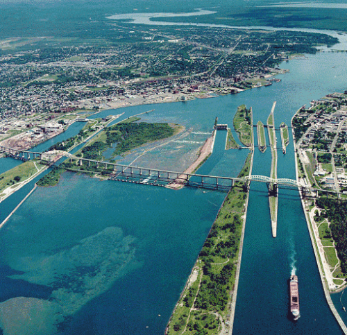 The Soo Locks are known as the busiest in the world. They are a set of parallel locks which enable ships to travel between Lake Superior and the lower Great Lakes. Our Great Lakes journeys this summer will transit the Locks.