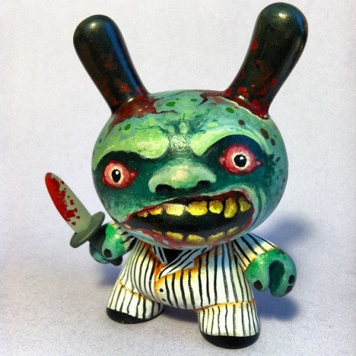 Zombie in a pinstripe suit. #dunny @kidrobot (Taken with instagram)