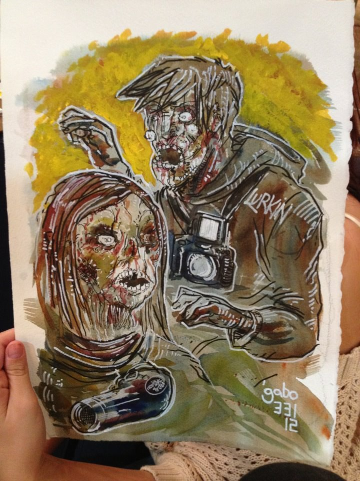 I ZOMBIFIED @mardynnphoto and @JacquelynMarieH at THE PULL shop - http://www.facebook.com/thepullshop