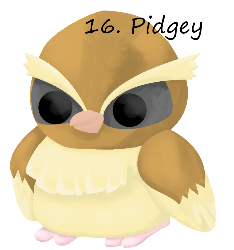 This is an extremely fat Pidgey, with an extremely big head…
