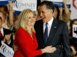 "Per ABC News' Emily Friedman, Ann Romney told Baltimore WBAL radio that she's working to show another side of her husband. Asked about criticism that Romney is ""too stiff,"" Ann Romney laughed and replied, ""I guess we'd better unzip him, and let the real Mitt Romney out because he is not."""