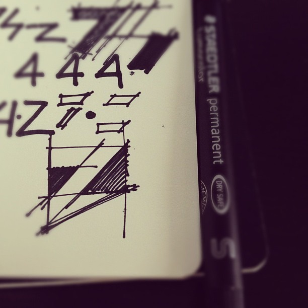 WIP, Sketching (Taken with instagram)