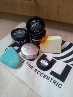 liique:  My latest Lush purchase. The only repurchase is ultrabland. I cannot wait to try everything out.