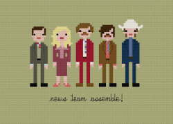 it8bit:  Anchorman Pixel People Created by Wee Little Stitches Cross stitch pattern available for $6 USD at Etsy.