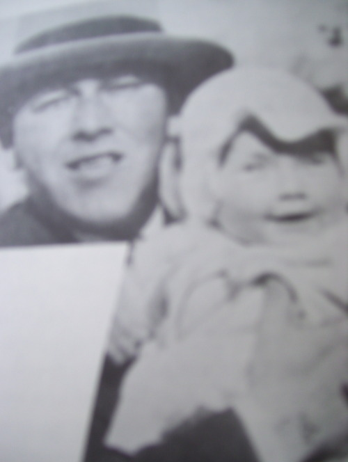 Daddy Moe with Joan as baby. Happy Birthday Joan!