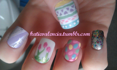 katievalencia:  Easter nails c: