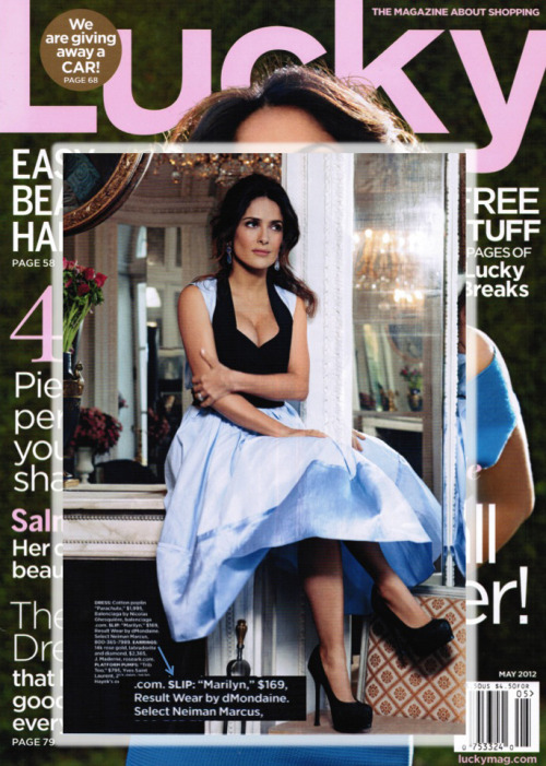 @ResultWear worn by Salma Hayek in the May 2012 issue of @LuckyMagazine. Can you say - results?!
