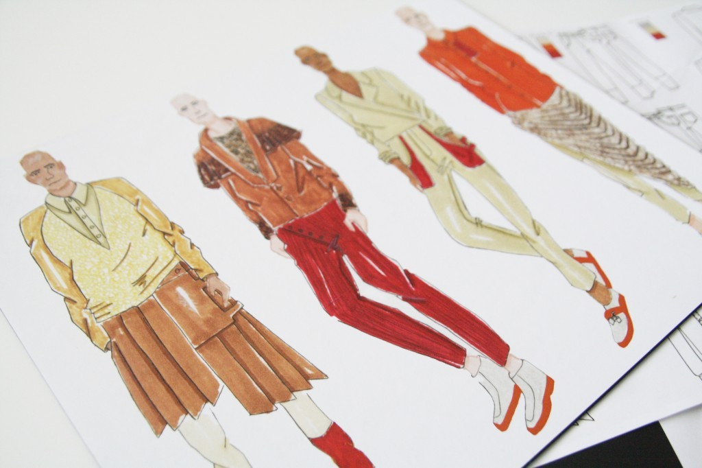 menswear fashion sketches.