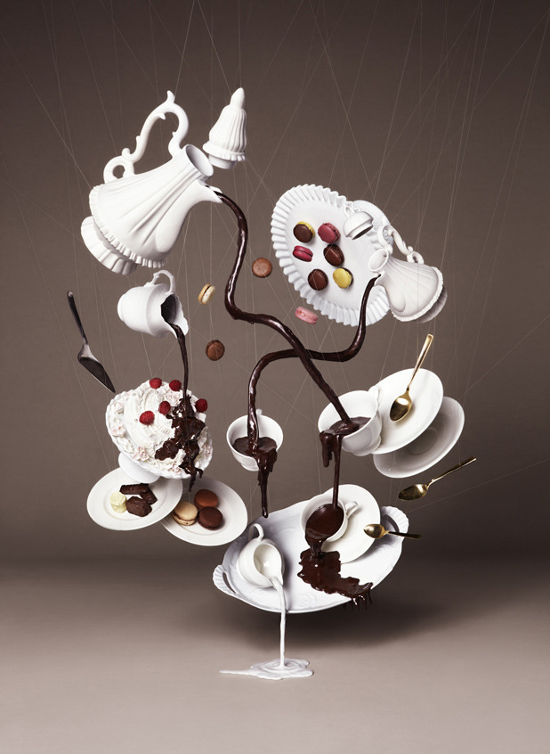 laughingsquid:  Falling Chocolate Photos
