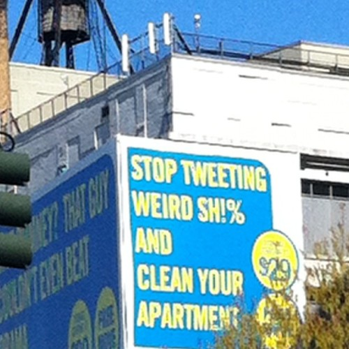 Stop Tweeting Weird Shit And … (Taken with instagram)