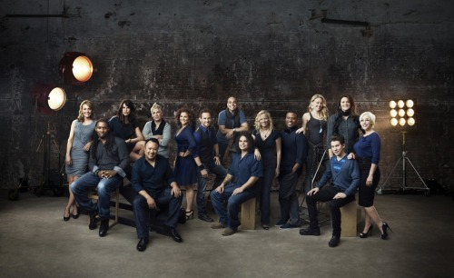 These are the finalists for the eighth season of Food Network Star.  The hot guy seated on the right is our very own Justin.
