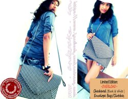 checkered envelope bag!!!