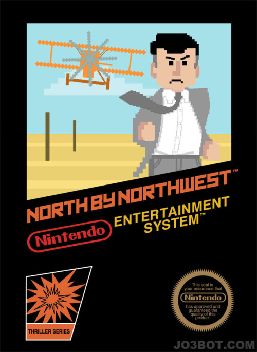 laughingsquid:  Alfred Hitchcock Movies as Nintendo Games  CTG: This is just too much fun not to reblog