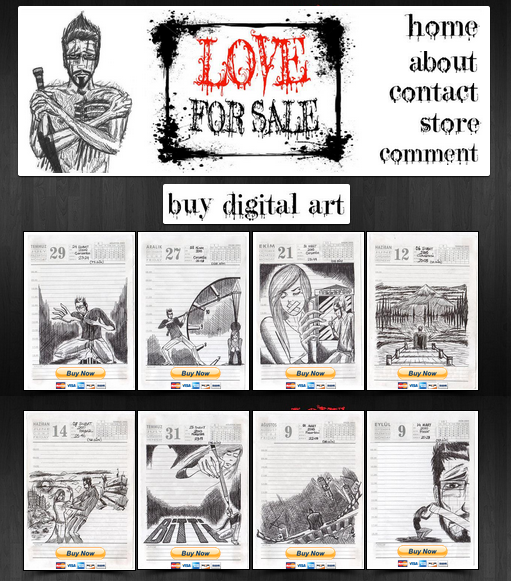 http://www.wix.com/scorplion977/loveforsale The art of Scorplion. Love for Sale is a collection of drawings. This artists love for pen and ink contrasts the stark emotions portrayed in gallery…