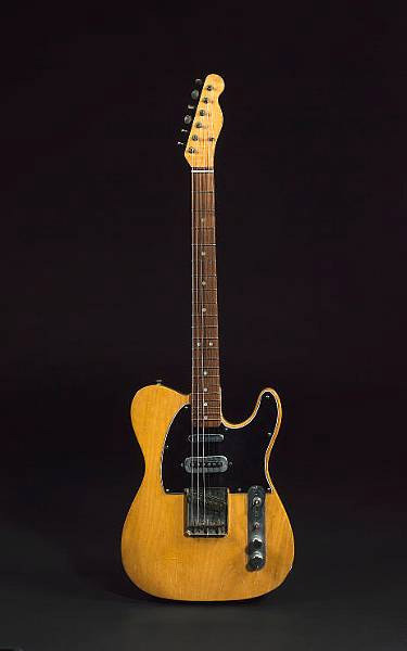 Mike Oldfield Fender Telecaster 1966 The most popular instrumental rock of all time (and first record ever released by Virgin) was recorded using this guitar. In fact, it was the only six string used for the entire album. I'm talking about Mike Oldfield's Tubular Bells, of course. This 1966 Fender Telecaster was originally blonde, and the property of Marc Bolan. An extra Bill Lawrence pickup was added to the classic Tele configration. The guitar went up for auction in 2007, but didn't reach the reserve price. Hear it