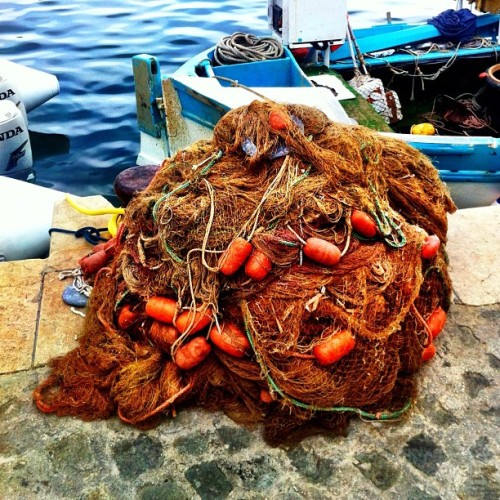 Tools of Fishermen #net #fish #fisherman #coast #iphone4   #iphoneonly #cotedazur #france #tool #gear coastline #sea #ship (Taken with Instagram at Villefranche Sur Mer)
