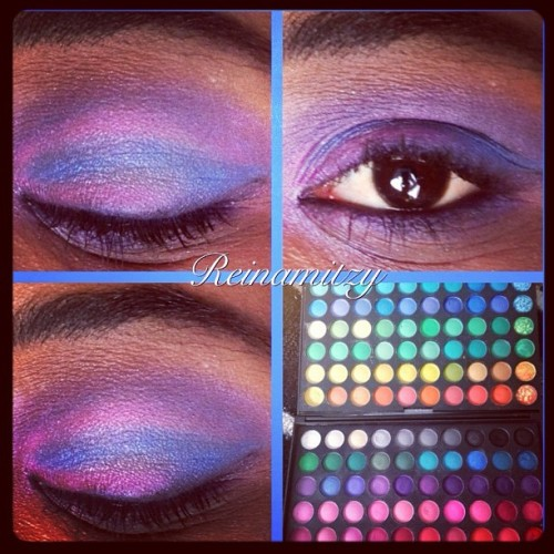 Playful #makeup #colos #chic #girly #cute #cosmetics #mac #fun #style #design #mua #pretty #eyes #eyeshadow #blue #pink #purple #guru #me #ig #iger #instahub #instapop #instagood #instadaily #ilovemaciggirls  (Taken with instagram)