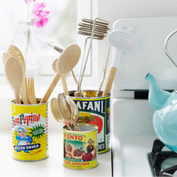 diy vintage kitchen organizers