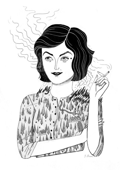 juliannabrion:  Audrey Horne of Twin Peaks, for a zine curated by Andrea Kalfas!
