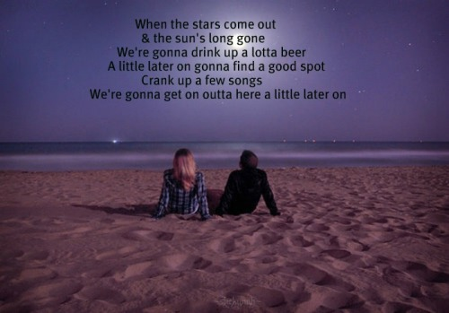 """little bit later on"" by Luke Bryan"