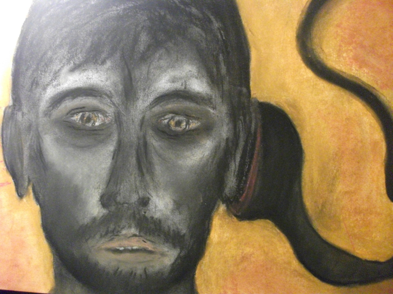 Odysseus Petrified by His Sonic-Siren (My Earliest Surviving Art Work) Pastel on paper, 30cm x 42cm Steven de Ciantis, 1981