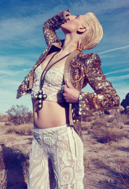 Sun-kissed skin, blonde hair & gold sequins. Who needs anything more? Fanny Francois for Flair Magazine, April 2012.