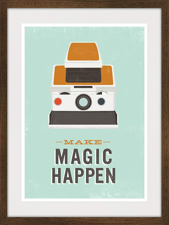 Cool homage to Polaroid Poster on Etsy from Jan Skácelík (via Polaroid Poster Quote Print Retro poster nursery art by handz)