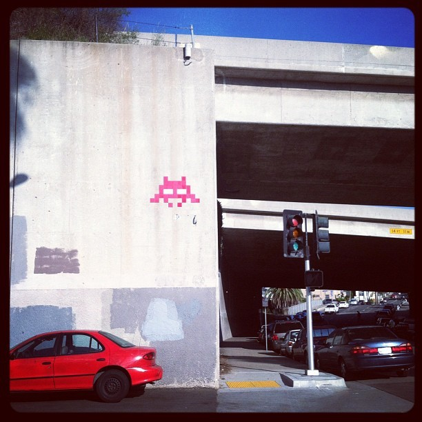 Space Invader in San Diego