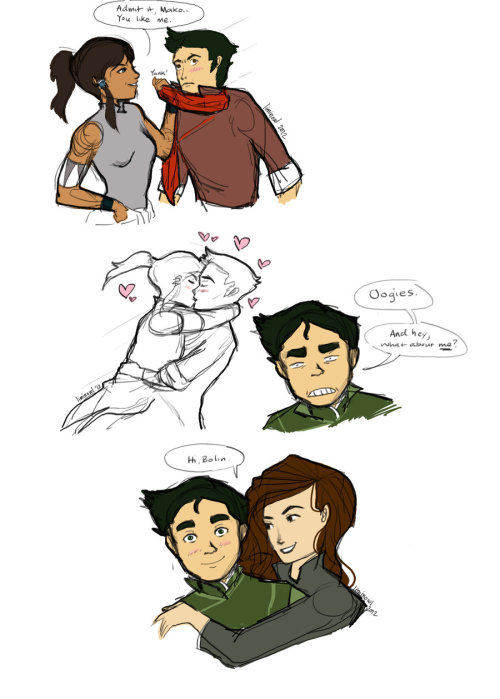 Makorra Established…What about Bolin? by ~liminowl OOGIES