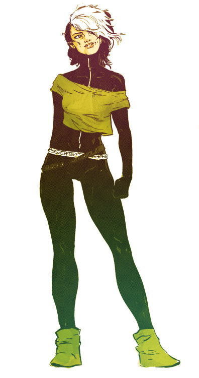 stefantosheff:  X-babe 1/4 This is my favorite version of rogue.  no matter how many times I drew this though, still never as bad ass and punked out as I wanted.