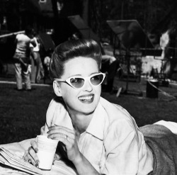 thebettedavis:  Bette Davis relaxing on the set of Now, Voyager