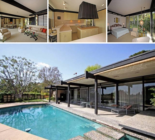 In today's installment of mid-century modern dwellings for sale, we have a delightful Buff, Straub & Hensman design that is new to the market in Beverly Hills, CA. Known as the 'Edwards House' – AIA President-signed letter of authenticity included – the property was designed by the trio of architect studs for a Mr. and Mrs. Duffy Edwards way back in 1959, and is now there for the taking after being listed by its current owner for $2.35 million.