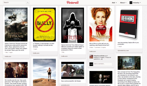 Have you found Pinterest as addicting as we have? Follow our boards as we pin the latest interests, sick obsessions, film news, and everything LA.