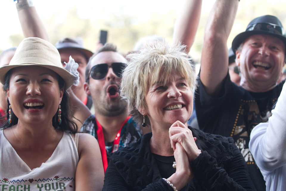 Crosby, Stills & Nash Front Row Fans at the West Coast Blues N Roots Festival in Fremantle Park on Sunday 1st April, 2012Click through for more photos!