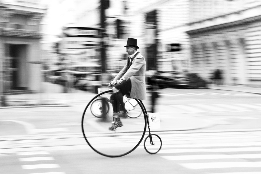 "blackandwhite:  (via 500px / Photo ""High wheel bicycle"" by Cool McFlash)"