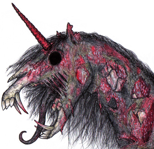 Zombie unicorns aren't so scary. They're fucking terrifying.