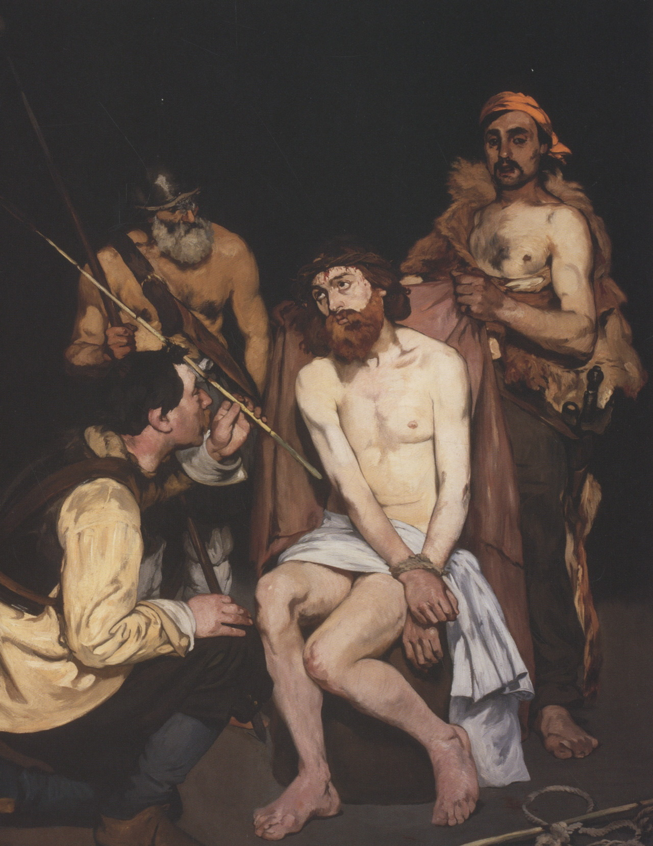 Jesus Mocked by Roman Soldiers, 1864-65. Édouard Manet Oil on canvas, 75 x 58 1/2in. The Art Institute of Chicago, Chicago, Ill.