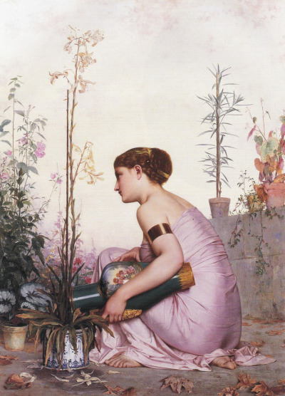 romantisme1812:  Adolphe Alexandre Lesrel, The Lily is Dead (1873).
