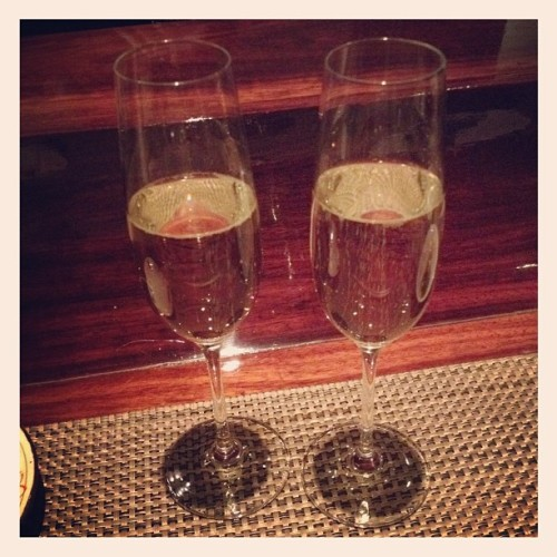 His & her prosecco (Taken with Instagram at Kyo Ya)