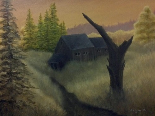 Old Barn. Original acrylic on  canvas. 14x18, $125.00. #in #art