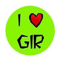I Love GIR 1 Inch Pinback Button available at: http://www.buttonpalooza.com/item/1-inch-single-buttons/i-love-gir-1-inch-button/lid=11722694 $1.49